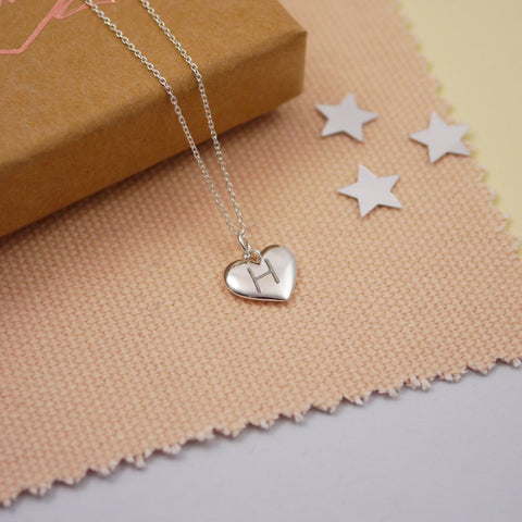valentines gift ideas, heart charm necklace