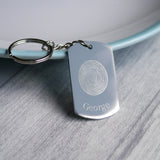 personalised engraved fingerprint keyring