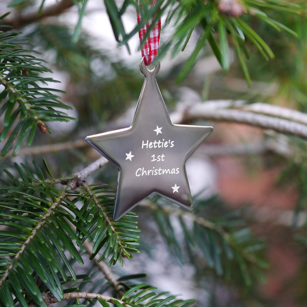 Hanging Star Tree Decoration