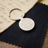 Engraved Personalised Daddy Keyring