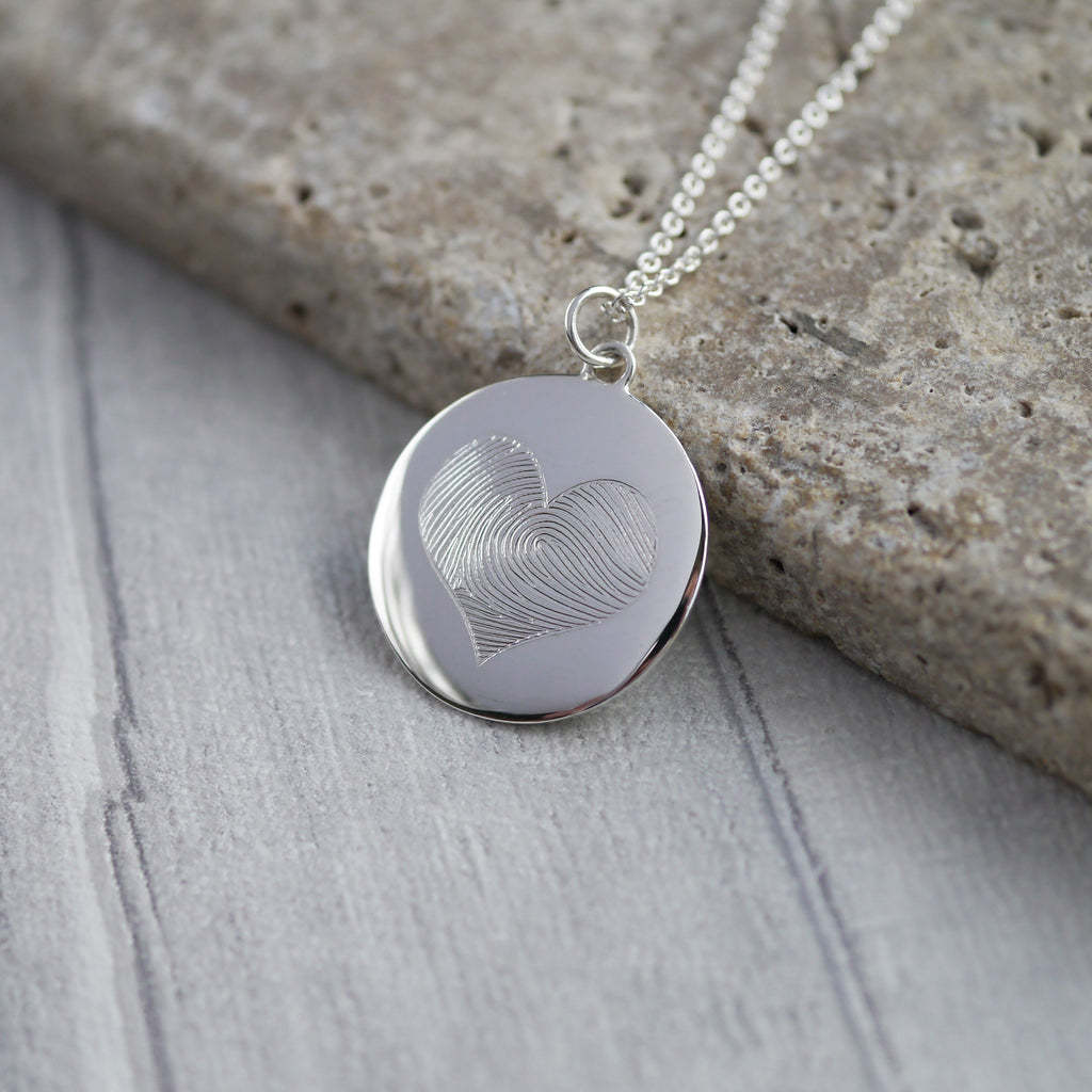 Disc Fingerprint Necklace