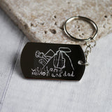Children's Drawing Keyring