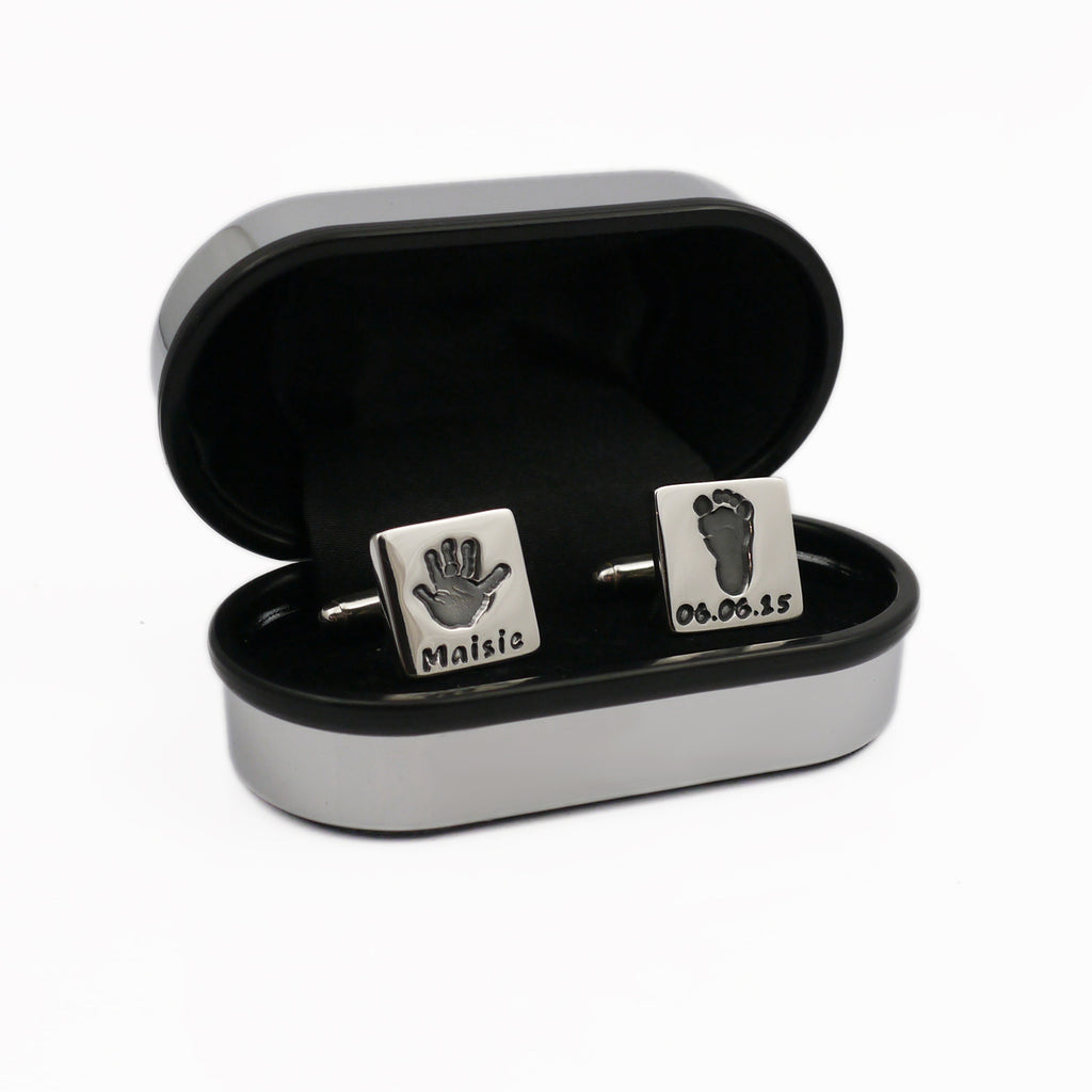 Handmade Handprint Cufflinks Personalised