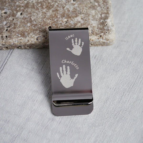 Handprint money clip keepsake