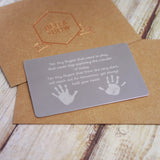 Handprint Keepsake Wallet Insert