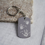 Handprint keyring personalised keepsake