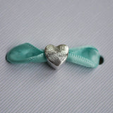 Fingerprint Heart Charm Bead