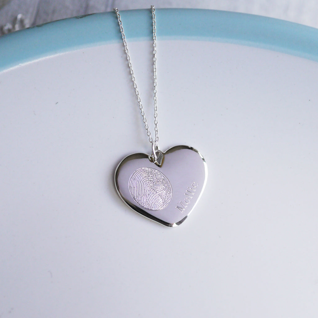 Personalised fingerprint necklace