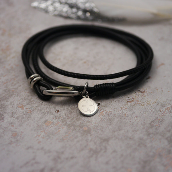 Good Luck Charm Bracelet Leather Personalised