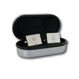 Rectangular Handprint Cufflinks - Two Children