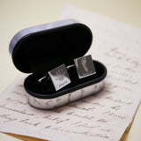 Square Engraved Handprint Cufflinks - One Child