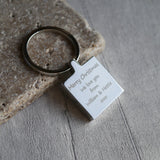 Personalised photo engraved keyring keepsake