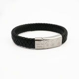 Mens Leather Handprint Bracelet Three Children