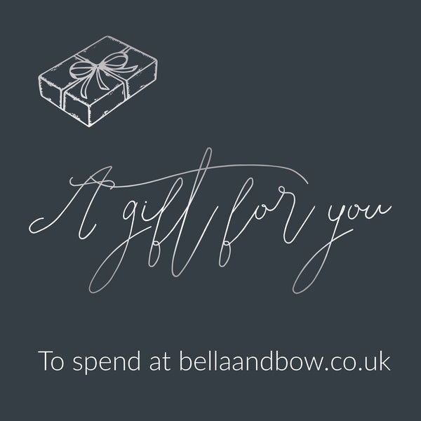 Bella & Bow Gift Card Personalised Handprint Jewellery