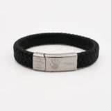 Mens Leather Handprint Bracelet One Child