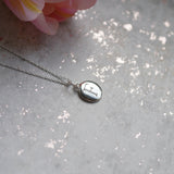 Engraved Personalised Silver Disc Charm Necklace