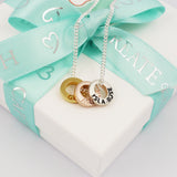 Personalised mini message charm necklace