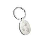 Engraved Oval personalised handprint keyring