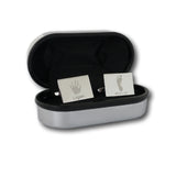 Rectangular Handprint Cufflinks - One Child
