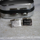 Engraved fingerprint cufflinks