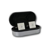 Square Engraved Handprint Cufflinks - Two Children
