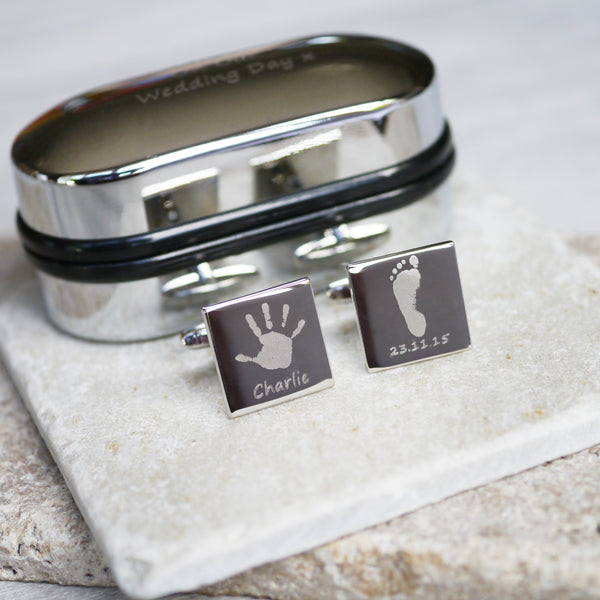 Square Handprint Cufflinks