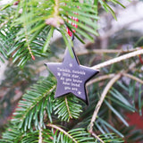 Hanging Star Handprint Christmas Tree Decoration