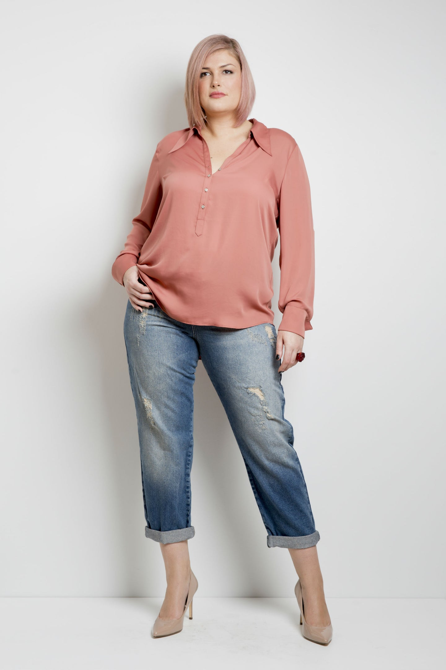 Stella Shirt Rose - Alison Dominy