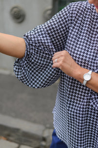 Isabelle Blouse - Houndstooth