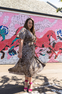 Hepburn Dress - Leopard