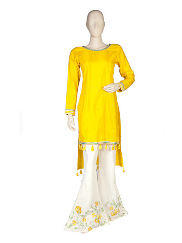 Yellow Kurta and Sharara Set