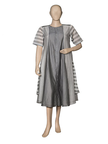 Grey Asymmetrical Kurta