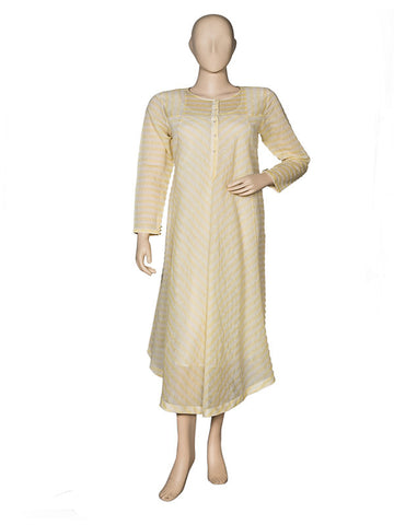 Lemon Asymmetrical Kurta