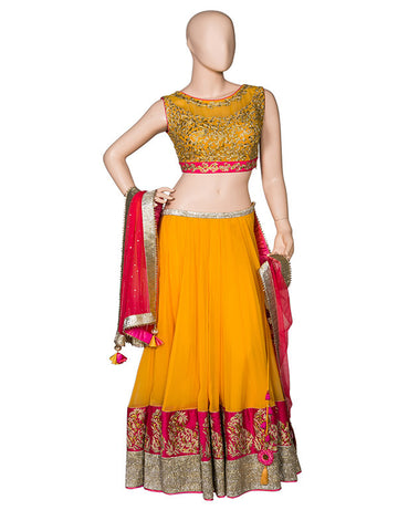 Yellow Lehenga Set