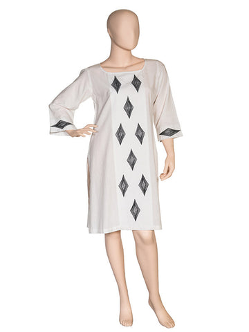OffWhite Tunic with Embroidery