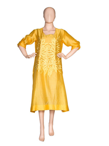 Yellow Embroidered Kurta