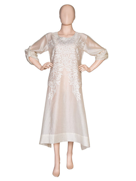Offwhite Embroidered Kurta