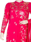Lotus Bagh Embroidered Georgette Long Kurta