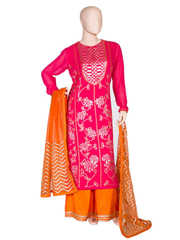 Kurta with Pallazo and Net Dupatta