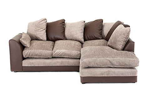Dylan Byron Corner Group Sofa Brown and Beige Right or Left (Brown ...