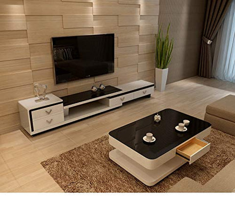 Mecor Coffee Table Design Modern High Gloss White Table For Living Room Furniture