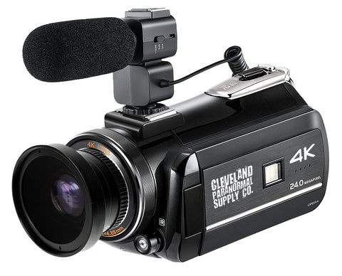 4K Ultra HD Infrared / Full Spectrum Camcorder (2020) w/External Microphone