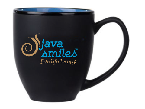 14oz Java Smiles™ Coffee Mugs | Blue - Qty 4