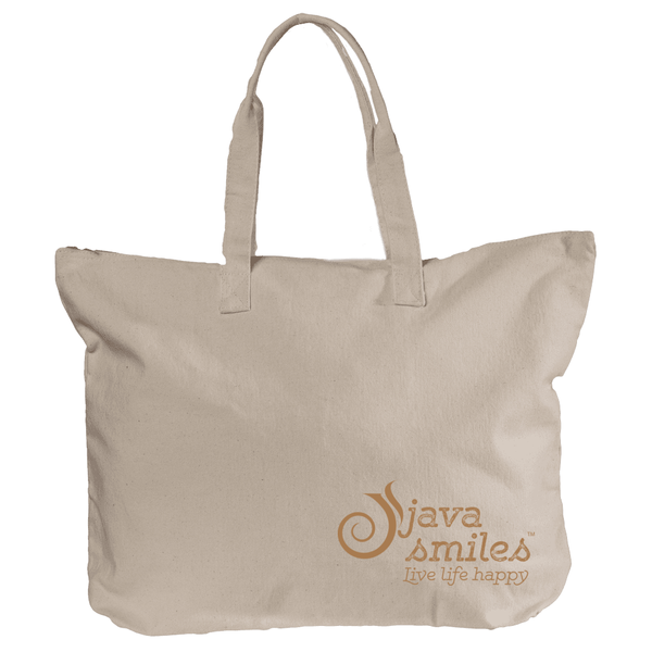 Canvas Zippered Book Tote (12oz)