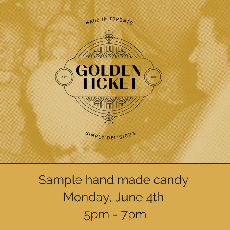 Sample Golden Ticket Candy at The Candy Bar