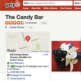 yelp reviews The Candy Bar