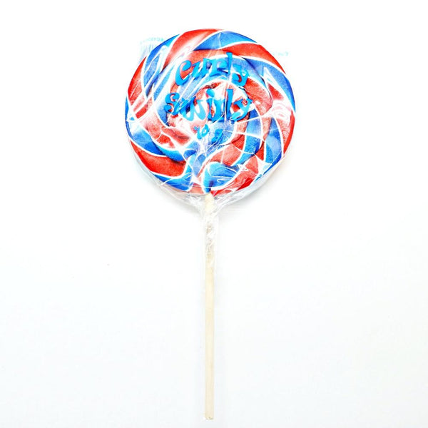 Red and Blue Curly Swirly Pop