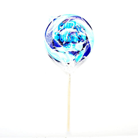 Blue Curly Swirly Pop