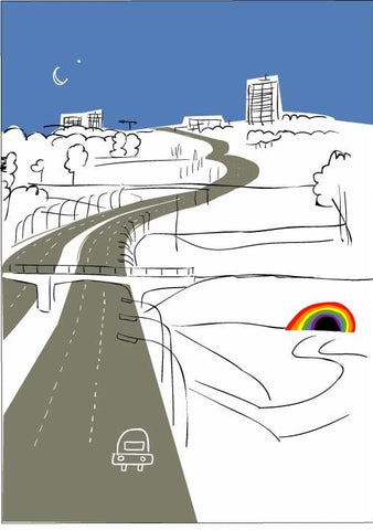 Greeting Cards by Wendy Tancock - Rainbow Tunnel at The Candy Bar