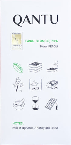 Qantu Gran Blanco 70% at The Candy Bar